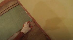 Brampton Floor installation worker installing new floor.