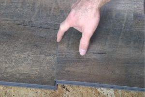 MC Brampton Flooring vinyl plank installation in a home by an employee
